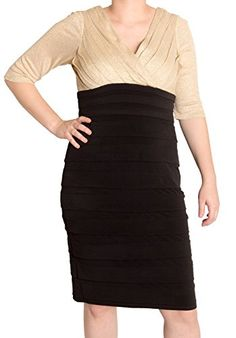 Sangria Black Beige Glitter #Sheath #Dress, (12) only $35 (was $89) perfect for #cocktails