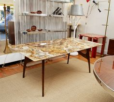 Italian Agate Top Dining Table