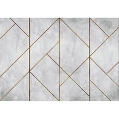 A unique take on the ever popular concrete trend, Coordone's La Coupole Mural features geometric concrete triangular tiles in a variety of sizes that dissect the design, copper or brass grouting outlines these tiles. Feature Wall Design, Wall Panel Design, Wall Decor Design, Diy Wall Decor, Decor Crafts, Decorative Wall Panels, 3d Wall Panels, Marble Wall, Tile Murals