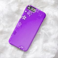 Purple Wildflowers Airbrush Art iPhone 6, Barely There Case by BOLO Designs.