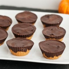 The ultimate vegan pumpkin pie fudge raw cookie dough chocolate cups. Think peanut butter cups but with raw cookie and pumpkin!