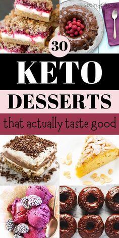 The best keto desserts that actually taste good! keto dessert recipes | low carb dessert recipes | keto cake | keto pie | keto cookies | keto pudding | keto cheesecake | keto fat bomb | easy keto dessert recipes | keto carrot cake | keto frozen yogurt | keto marshmallows | oreo keto chaffles | keto chocolate truffles | keto donuts | keto brownies | keto macaroons | easy no-bake keto desserts | chocolate keto desserts | keto cookies Meringue Desserts, Low Carb Desserts, Low Carb Recipes, Keto Cookies, Keto Donuts, Keto Cheesecake, Keto Cake, Keto Dessert Easy, Dessert Recipes