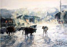 Watercolor by Liu Yunsheng