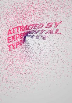 Generative semantic typography - Attracted by experimental typography | Flickr - Photo Sharing!