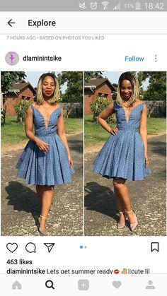 Seshweshwe Dresses, African Dresses For Women, African Print Dresses, African Print Fashion, Africa Fashion, African Attire, African Fashion Dresses, African Outfits, Bridal Dresses