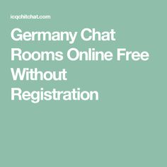 germany free chat room