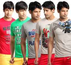 Buy Mckinley Printed T-Shirts for Men-Pack of 5 @ 899