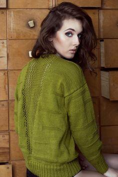 Sweter z siatką na plecach - dressing - Swetry i bezrękawniki