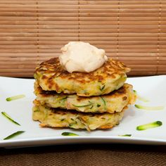 Zucchini Fritters, Lime and Chilli Mayonnaise: A tasty, healthy & easy solution for breakfast, lunch or dinner