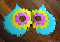 Owl Mask Free Printable PDF Pattern