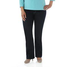 Riders by Lee Plus Size Women's Plus Comfort Fit Straight Leg Jeans, Size: 24, Storm Blue