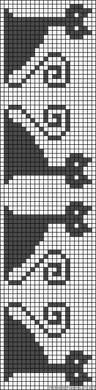 Punto de cruz patrón: Marcar con gatos - creaciones de Marzia