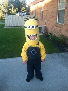 My sons homemade minion costume!! :)