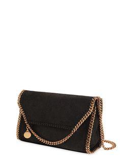 stella mccartney - women - shoulder bags - falabella shaggy faux deer shoulder bag