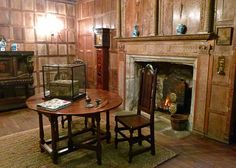 Drawing room - wonderful Jacobean panelling...