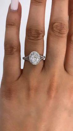 Halo Engagement Rings, Engagement Ring Settings, Oval Diamond, Diamond Rings, Ring Designs, Wedding Finger, God's Plan, Halo Setting, Natural Diamonds