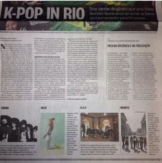 [PIC] K-pop in Rio; Article about Music Bank in Brazil in a local news paper by Telesrafael - #인피니트 pic.twitter.com/EHjTmTY01q