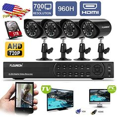 Floureon 4CH 960H Onvif CCTV DVR with 4 x 900TVL Night Vision Bullet Cameras +1TB HDD Kit (Cloud-Based Remote Access, Smart Motion Detection, Email Alert, Home Security System)  http://www.lookatcamera.com/floureon-4ch-960h-onvif-cctv-dvr-with-4-x-900tvl-night-vision-bullet-cameras-1tb-hdd-kit-cloud-based-remote-access-smart-motion-detection-email-alert-home-security-system/