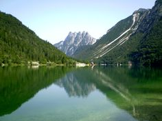 Lake Predil with Cinque Punte in the background