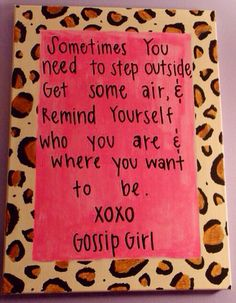 Hey, I found this really awesome Etsy listing at https://www.etsy.com/listing/178936704/gossip-girl-quote-canvas