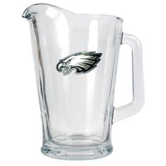 Philadelphia Eagles Large Glass Beer Pitcher