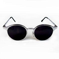 401a4fb9c68 vintage silver round sunglasses retro Steampunk sunglasses unisex sunglasses  wayfarer style metal wayfarer NOS 1980s stock