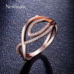Newbark menawan mata jahat cincin kecil cz berlian beraspal rings untuk wanita naik warna emas engagement bague fashion perhiasan hadiah