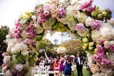 A joyful flower arch!
