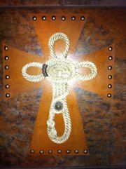 DECORATED WOODEN CROSS by grammieself on Etsy, $35.00