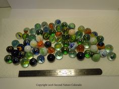 Lot Of Mixed Vintage Gl Marbles All Rox