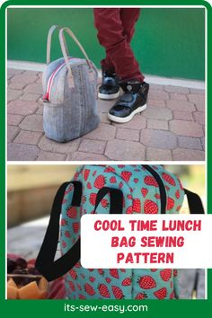 Make lunch a time to look forward to for your kids with this unique lunch bag. The bag offers multiple compartments to keep your child's lunch fresher for longer. With this intermediate level pattern, you can make this cool bag that comes in two style options making it easier to find something that you and your child will love. #lunchbagpatterns#sewingpatterns#lunchbagsewingpatterns#bagsewingpatterns#lunchbag#kidssewingpatterns#easylunchbagpatterns Bag Patterns To Sew, Sewing Patterns, Insulated Lunch Bags, Pattern Making, Fun Projects, Lunch Box, Child, Cool Stuff, Unique
