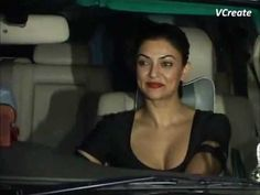Sushmita Sen looking hot and busty at Raj Kundra's birthday party.