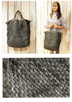 """Handmade woven leather bag """"INTRECCIATO 75"""" di LaSellerieLimited su Etsy"""