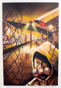 Canvas- Acryl Spray Paint - 80 cm x 120 cmDas Bild wird nicht per Post verschickt und muss in Zürich abgeholt werden.Redl aka LordRedl ist freischaffender Künstler. Seine Werke schafft er mit Pinsel, Marker oder Spraycan, was es halt gerade braucht, um den besten Effekt zu erzielen. Redl's Karriere begann jedoch in den Strassen und Yards als Mitglied einer legendären Zürcher Crew, die Ruhm weit über die ... Marker, Poster, Lord, Brushes, Career, Pictures, Markers, Billboard