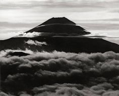 """zoebalthus: """" Le mont Fuji (in the clouds) série - 1950 © Koyo Okada """" Monte Fuji, Sacred Mountain, Photo B, Above And Beyond, Japan Travel, Amazing Nature, Japanese Art, Storytelling, Illusions"""