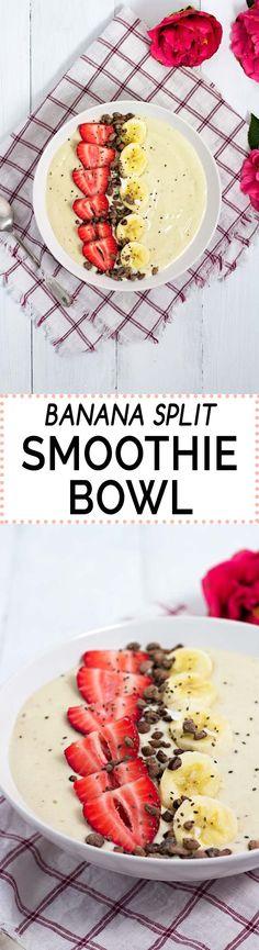 Banana Split Smoothie Bowl! {gluten-free, can be easily made vegan}
