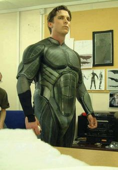 Christian Bale, suiting up