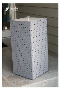 here's instructions on how to make your own spinning display rack from pegboard  - - Sugar Bee Crafts: Spinning Display Rack