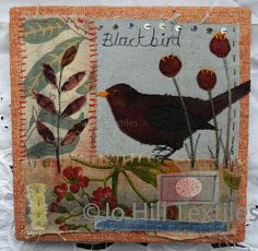 Blackbird by Jo Hill Textiles