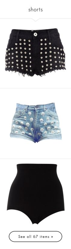 """""""shorts"""" by iamthekitty ❤ liked on Polyvore featuring shorts, bottoms, pants, short, jeans, sexy hot pants, jean shorts, hot short shorts, sexy hot shorts and hot shorts"""