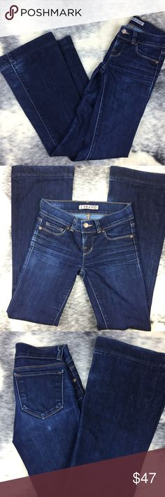 """J Brand Love Story Flare Ink 24 HTF sold out flare jeans by J Brand. Size 24 in Ink color, these jeans are amazing. 78% cotton 22% elastane Rise 8"""" Inseam 30"""" bottom flare 10"""" J Brand Jeans Flare & Wide Leg"""