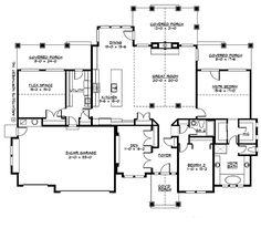 2545 sq ft Main Floor Plan