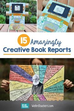 15 Amazingly Creative Book Reports Book reports dont have to be boring Help your students make the books they read come alive with these 15 creative book report ideas and. 6th Grade Reading, 6th Grade Ela, Middle School Reading, Middle School English, Eighth Grade, 6th Grade English, Teaching 6th Grade, Teaching Themes, Teaching Social Studies