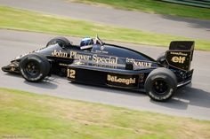 Ayrton Senna in the John Player Special Lotus Renault 98T