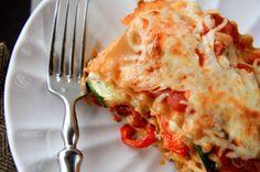 Roasted Vegetable Lasagna Stack for One by backtoherroots #Lasagna #Vegetable #Single_Serving