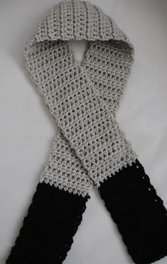 Boys crochet scarf. Fawn with Black detail. Other colours available. Pairs beautifully with our Newsboy caps on Etsy, $10.00 AUD