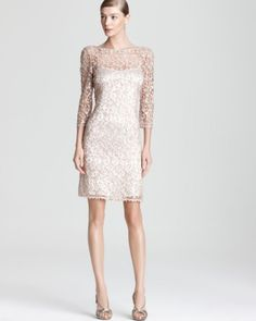 Kay Unger Lace Dress - Sequins | Bloomingdales's
