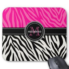 Modern Girly Black Pink Zebra Print Personalized Mousepads we are given they also recommend where is the best to buyReview Modern Girly Black Pink Zebra Print Personalized Mousepads Review on the This website by click the button below...