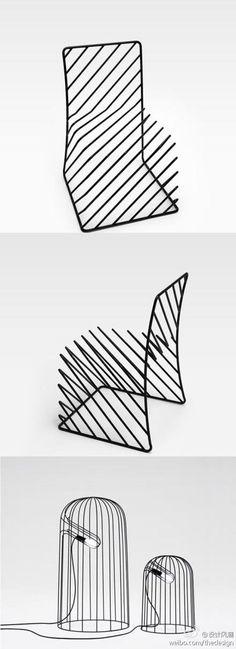 日本创意工作室Nendo新作:细黑线系列家具
