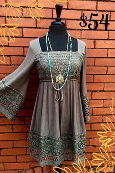 Aaaaawlive Green BOHO dress!  $54. S-M-L  Cute worn as dress or shirt!!!